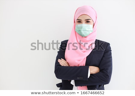 business woman wearing headscarf stock photo © kor
