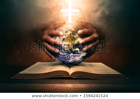 open hands holding christianity cross stock photo © stevanovicigor
