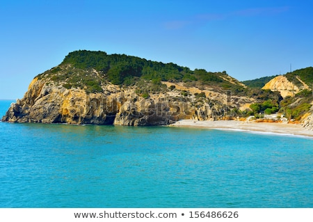 Home Mort Beach in Sitges, Spain Stock photo © nito