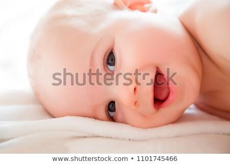 tatlı · küçük · bebek · yüz - stok fotoğraf © runzelkorn