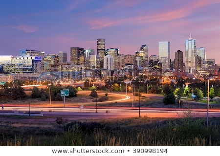denver skyline at night stock photo © ambientideas