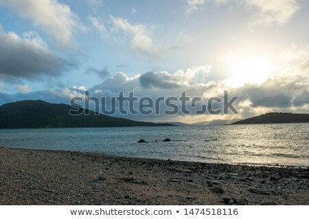 Zon hemels wolken pluizig hemel Stockfoto © clearviewstock
