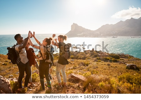 Adult group in countryside Stock photo © monkey_business