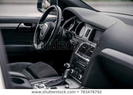Tuned sport car. Luxury leather interior Stock photo © Nejron