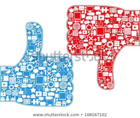 Medios de comunicación social como aversión pulgar vector eps10 Foto stock © MPFphotography