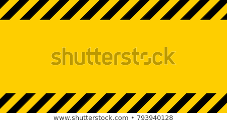 Warning black and yellow hazard stripes texture Stock photo © Supertrooper