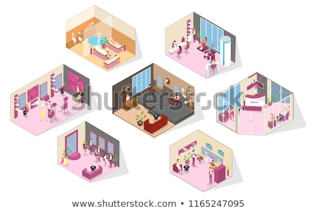 manicure making in beauty spa salon Stock photo © juniart