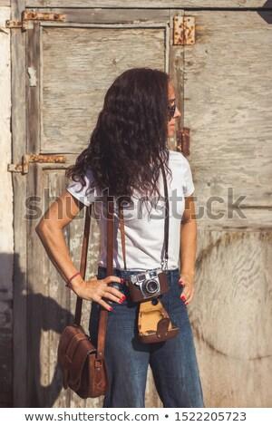 Fotógrafo edad cámara mirando ver foto Foto stock © sumners