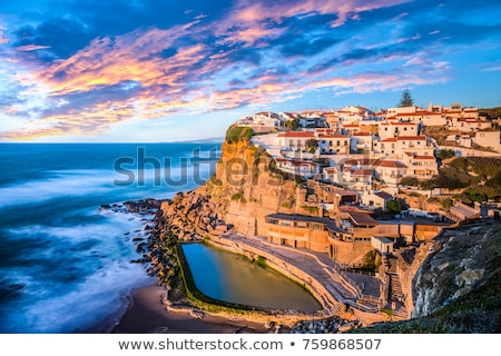 Сток-фото: Azenhas Do Mar Village At Dusk Portugal