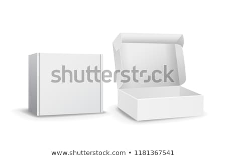 Geïsoleerd ingesteld klein witte karton dozen Stockfoto © vavlt