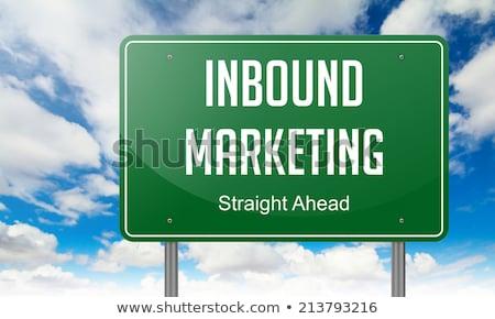 Stock fotó: Marketing · autópálya · útjelző · tábla · üzlet · út · háttér