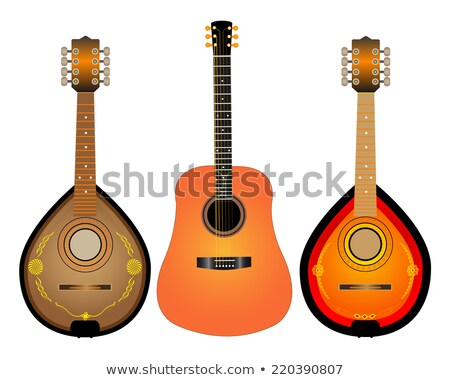 guitar and two Mandalina stock photo © mayboro1964