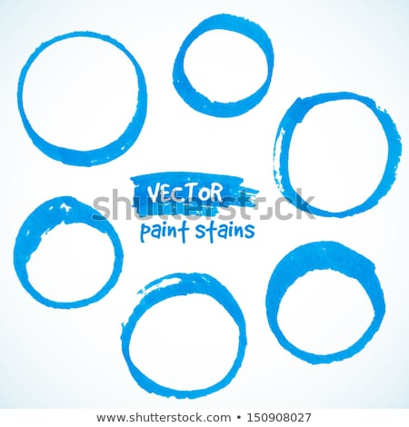 blue vector marker circle stain stock photo © gladiolus