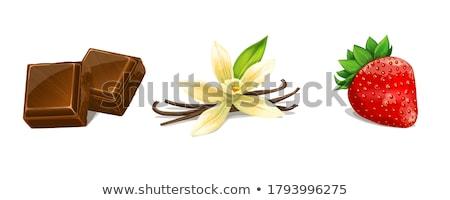 Vanilya çilek fasulye yaprakları taze arka plan Stok fotoğraf © joker