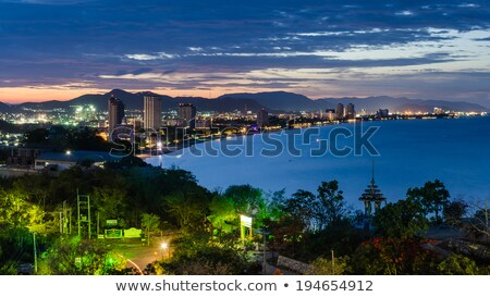 View point Hua Hin city at sunrise Stock photo © Yongkiet