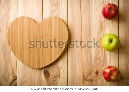 Apple shaped cutting board stock photo © fotogal