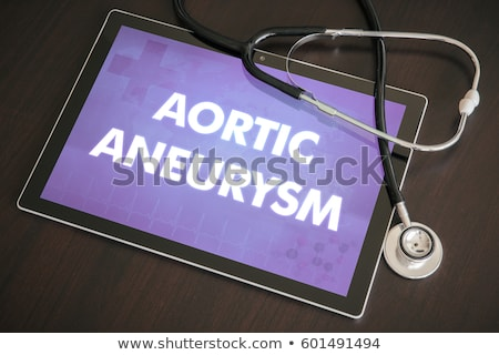 Aneurysm on the Display of Medical Tablet. Stock photo © tashatuvango