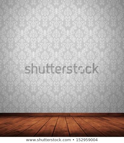 naadloos · retro · behang · frame · bladeren · kroon - stockfoto © jul-and