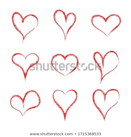 soyut · simge · yalıtılmış · örnek · mutlu · kalp - stok fotoğraf © eltoro69