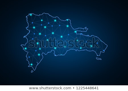 map of dominican republic with with dot pattern stock photo © istanbul2009
