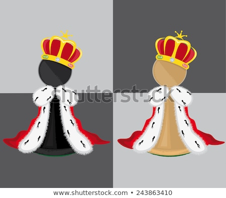 Diamond chess pawn with crown, vector illustration Stock photo © carodi