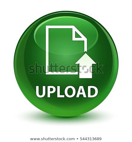 アップロード 矢印 アイコン 緑 ボタン ストックフォト © faysalfarhan