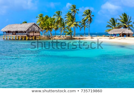 Yaz tatili Panama plaj kişi kart Stok fotoğraf © stevanovicigor