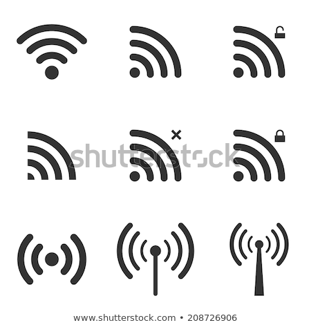 Wi-fi local ícone alto sem fio Foto stock © ylivdesign