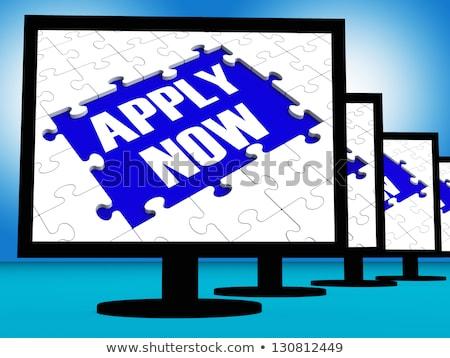 Now Hiring On Screen Shows Recruitment Online Hire Jobs Stock photo © stuartmiles