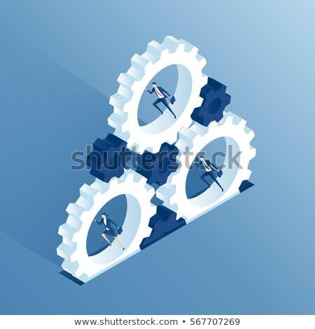 Gear Wheel with Running Man Stock photo © Anna_leni