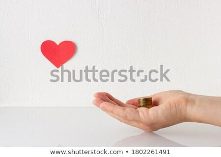 Schenken geld hart liefdadigheid top Stockfoto © vinnstock