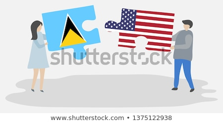 USA and Saint Lucia Flags in puzzle Stock photo © Istanbul2009