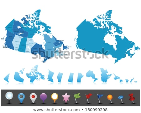 map of canada   northwest territory stock photo © istanbul2009