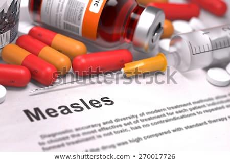 diagnisis   measles medical concept stock photo © tashatuvango