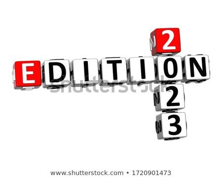 mlm · branco · palavra · vermelho · 3d · render · quebra-cabeça - foto stock © tashatuvango