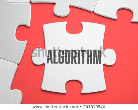 アルゴリズム パズル 場所 行方不明 ピース 文字 ストックフォト © tashatuvango