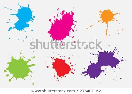 farby · splash · kolekcja · niebieski · odizolowany · biały - zdjęcia stock © kubais