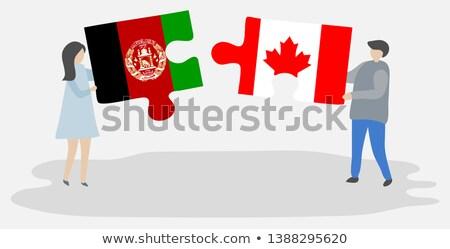 Канада Афганистан флагами головоломки изолированный белый Сток-фото © Istanbul2009