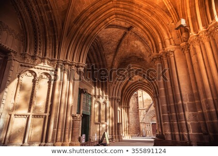 gothic arches at selimiye mosque in nicosia cyprus stock photo © kirill_m