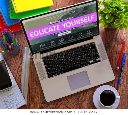 Oktat magad modern laptop képernyő különböző Stock fotó © tashatuvango