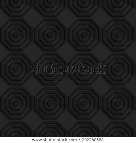 Black textured plastic simple striped hexagons in row Stock photo © Zebra-Finch