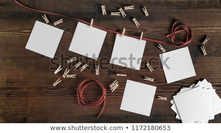 blank instant photos on a wooden surface Stock photo © nito