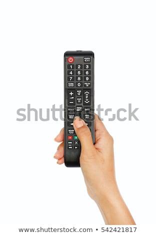 Vrouw afstandsbediening communicatie jonge Stockfoto © imagedb