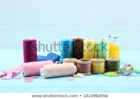 クローズアップ スプール スレッド ファブリック 綿 糸 ストックフォト © imagedb