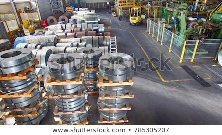rolls of steel sheet inside of plant cold rolled steel coils stock photo © razvanphotos