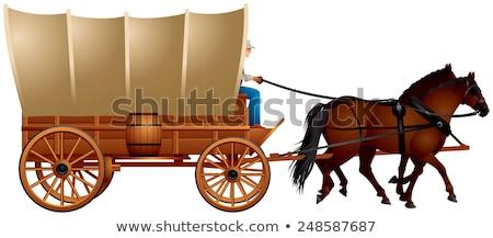 fekete · fehér · fedett · vagon · fotó · öreg - stock fotó © stocksnapper