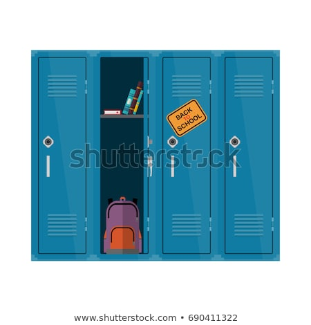 vector background of colorful school lockers stock photo © freesoulproduction
