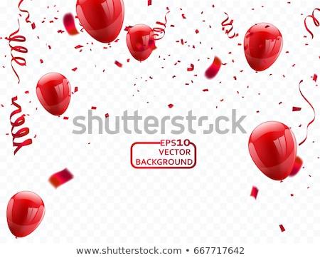balões · hélio · diferente · formas · aniversário · laranja - foto stock © tetkoren