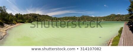 Breed panorama meer Indonesië beroemd toeristische attractie Stockfoto © artush