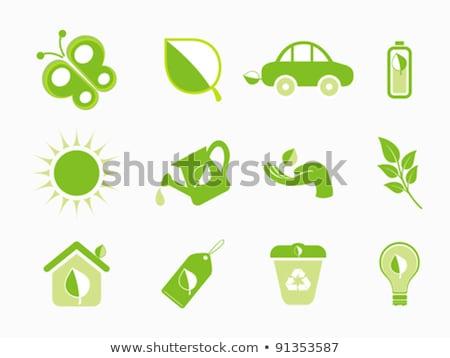 Résumé multiple eco icône eau arbre Photo stock © pathakdesigner
